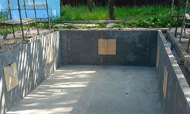Строительство монолитного бассейна